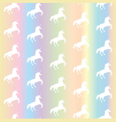 Seamless pattern from white unicorns silhouette vector