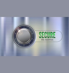 Secure ssl connection 3d concept vector