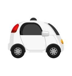 Self driving car future icon vector