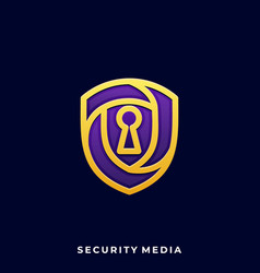 shield security template vector image