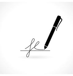 signature vector image
