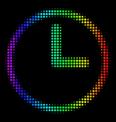 spectrum dotted clock icon vector image