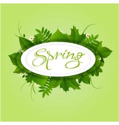 Spring badge elipse frame vector