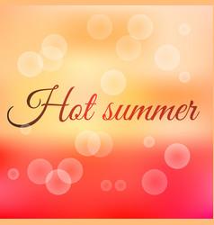 summer sunset hot summer vector image
