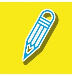 Symbol of pencil isolated icon design vector