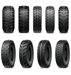 Truck and Tractor Tires vector