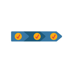 Value chain icon colored simple elements from vector