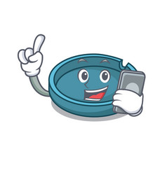 with phone ashtray character cartoon style vector image