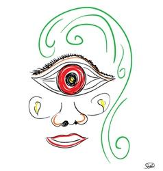 Woman big eye vector