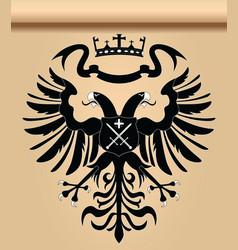 doubleheaded heraldic eagle vector image vector image