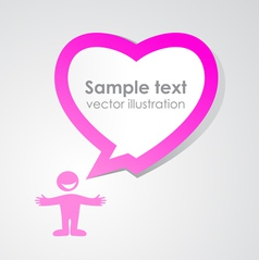 Love speech bubble vector image