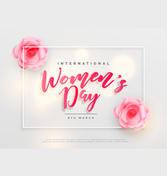 Lovely happy womens day international celebration vector