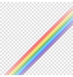 Rainbow icon realistic 9 vector image vector image