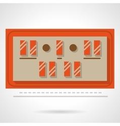 Sport scoreboard flat color design icon vector image vector image