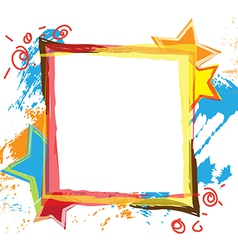 banner design with grunge background vector image