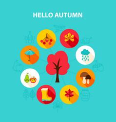 concept hello autumn vector image vector image