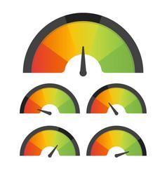 customer satisfaction meter speedometer set vector image