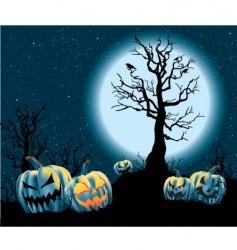 halloween jack-o-lanterns vector image