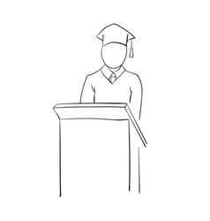 stick graduate for pedestal vector image vector image