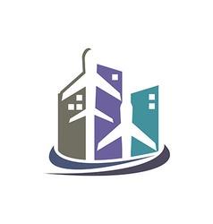 Business logo design avion transport vector image