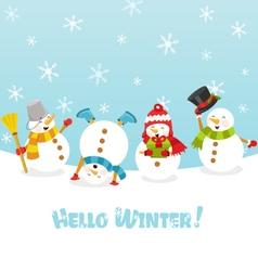 Hello Winter Card vector image