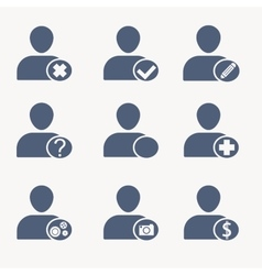 People icons User icons Human resources vector image vector image