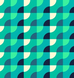 Retro Geometric Blue Pattern vector image vector image