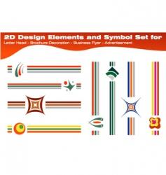 symbols for brochures vector image vector image