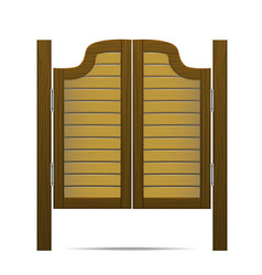 wooden brown gate or door in saloon bar or pub vector image