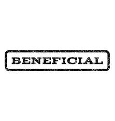 beneficial watermark stamp vector image