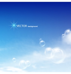 blue sky bubbles vector image vector image