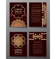Brochure templates cards with arabic mandala vector image vector image