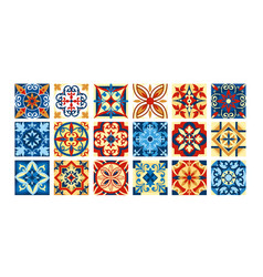 collection of ceramic tiles in vector image vector image