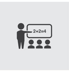 Lesson icon vector image