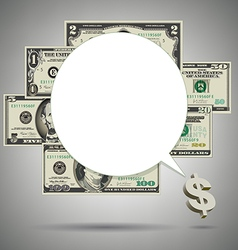 Money SpeechBubble vector image vector image