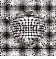 silver abstract disco background vector image vector image