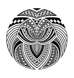 Abstract polynesian ethnic circle tattoo design vector