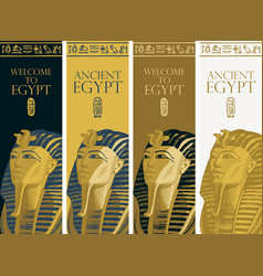 Ancient egypt golden mask pharaoh tutankhamun vector