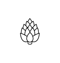 artichoke thin line icon isolated vegetables vector image