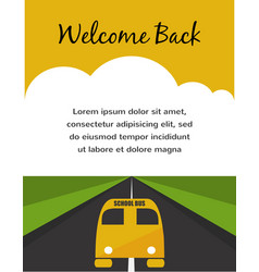 Back to school Yellow School Bus background vector image