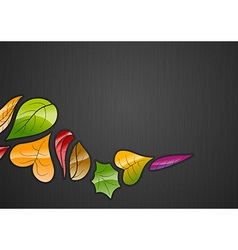 background autumn dark color vector image