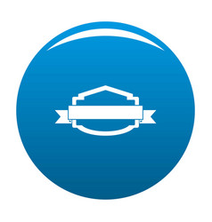 badge banner icon blue vector image