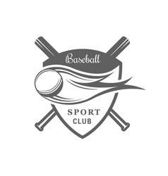 baseball logotype vector image
