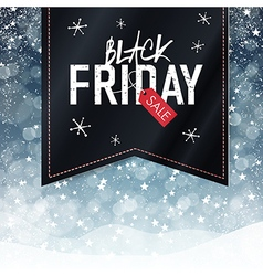 black friday snowfall background vector image