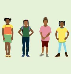 Black little girls vector
