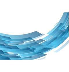 blue abstract hi-tech shapes background vector image