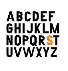 Bold condensed grotesque font uppercase vector
