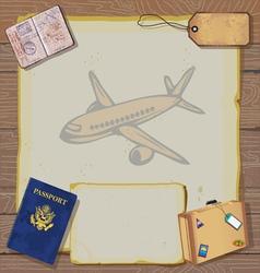 Bon voyage party invitation vector
