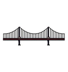 bridge architecture on white background vector image