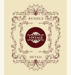 bundle vintage engraving ornaments classic vector image